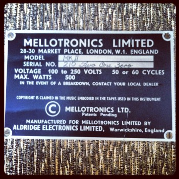 Mellotron Badge