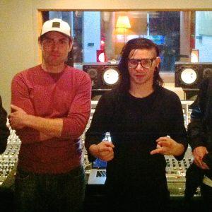 Skrillex Visits Studio A