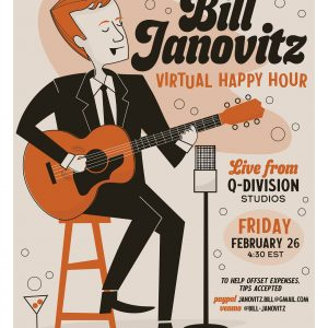 Bill Janovitz Virtual Happy Hour – Live from Studio A!